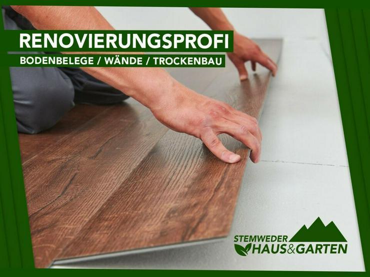 Tapezierarbeiten, Trockenbau, Boden verlegen - Vom Profi!