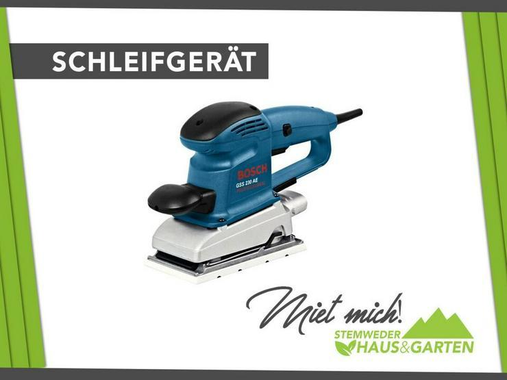 Mieten / Leihen: Schwingschleifer Bosch - Geräte & Werkzeug - Bild 1