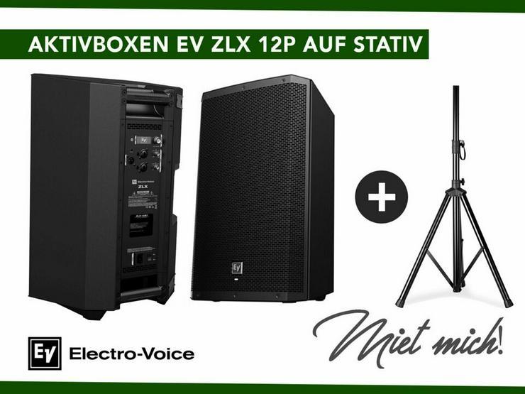 Aktivboxen EV ZLX 12P auf Stativ mieten