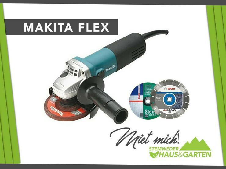 Mieten / Leihen: Flex / Winkelschleifer Makita 125er