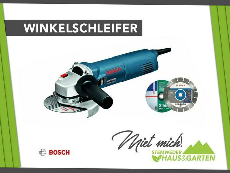 Mieten / Leihen: Flex / Winkelschleifer Bosch 125er