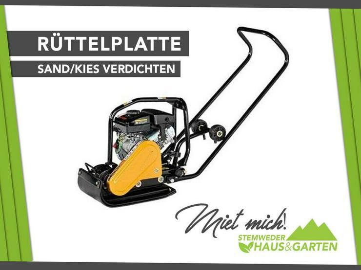 Mieten / Leihen: Rüttelplatte / Rüttler