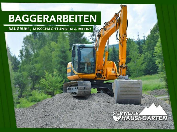 Baggerarbeiten, Erdbau, Tiefbau, Baugrube, Ausschachtung
