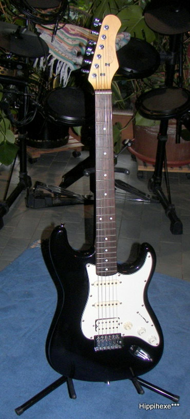 Bild 2: Verkaufe E-Gitarre von Stagg S402 * Stratocaster* in schwarz
