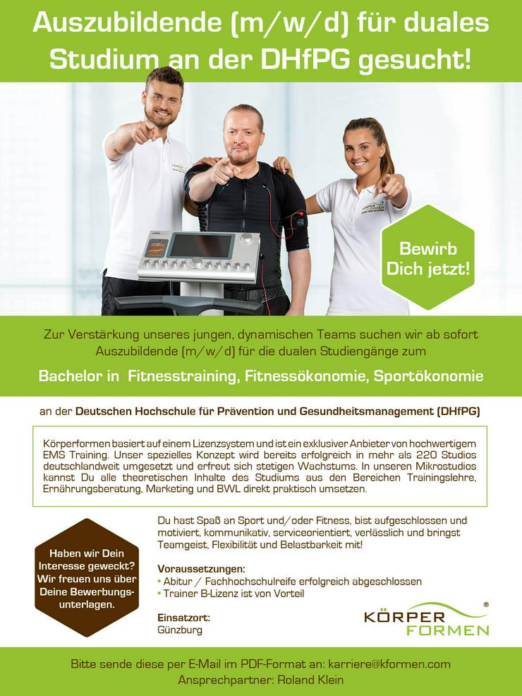 Auszubildende für duales Studium an der DHfPG gesucht!