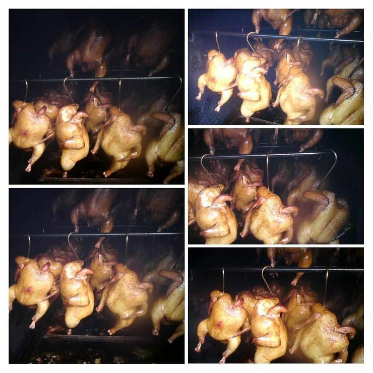 Bild 2: Geflügel u Schwein gebacken.gekasslert. gegrillt