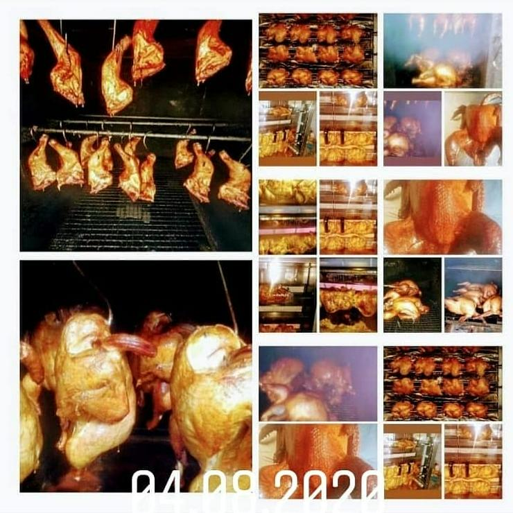 Bild 5: Geflügel u Schwein gebacken.gekasslert. gegrillt