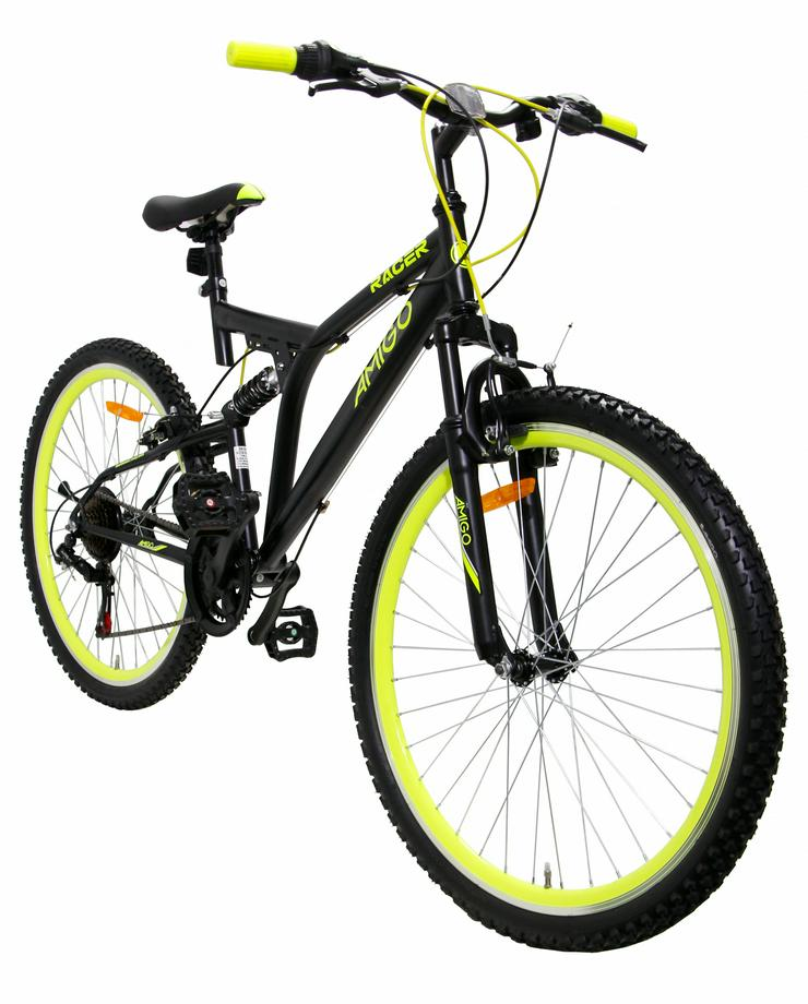 AMIGO Racer 26 Zoll 48 cm Unisex 18G Felgenbremse Schwarz - Mountainbikes & Trekkingräder - Bild 1