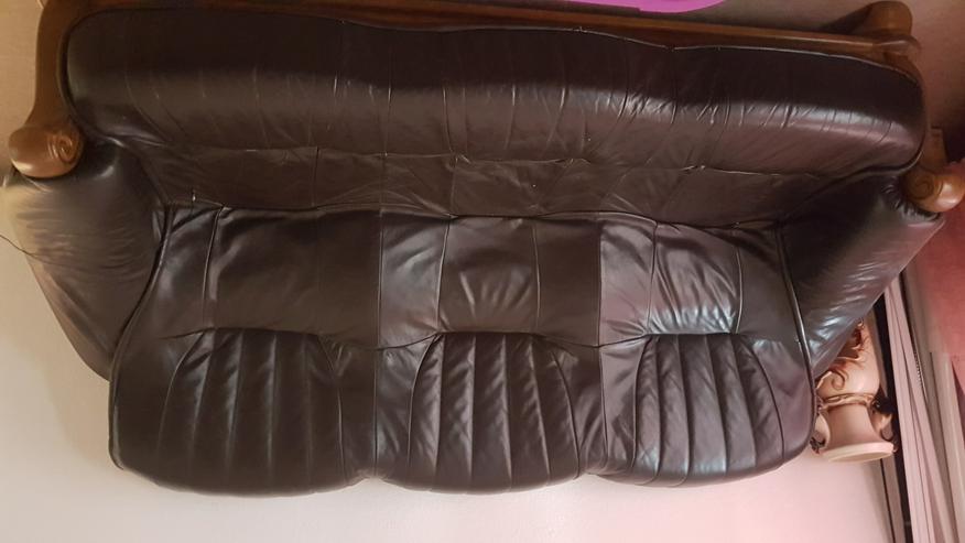 Ledercouch mit 2 Sesseln - Sofas & Sitzmöbel - Bild 1