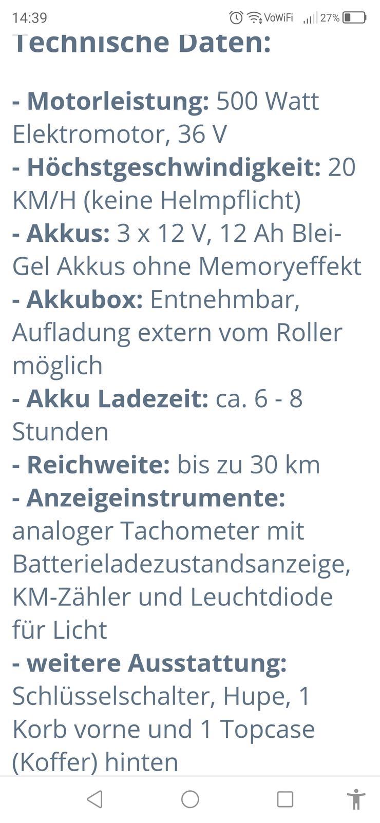E scooter Rollektro Eco fun plus