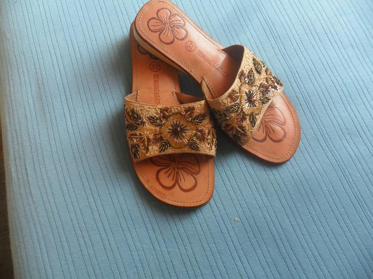 Tolle Sandaletten  Echt Leder  Gr 37   - Größe 37 - Bild 1