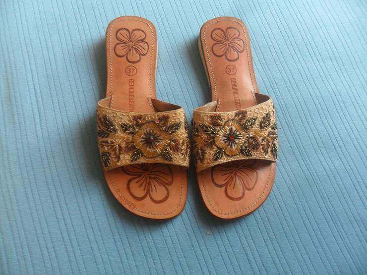 Bild 2: Tolle Sandaletten  Echt Leder  Gr 37