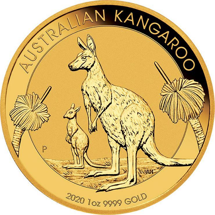 Australien 1 Unze Goldmünze  Känguru 2020 Gold