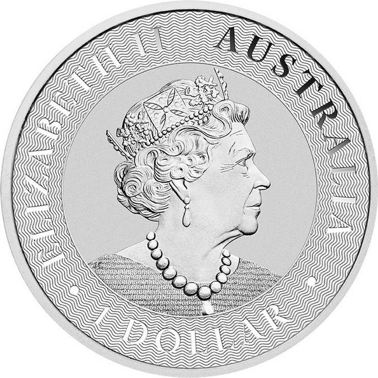 Bild 2: Australien 1 Unze Silbermünze Känguru 2020 Silber