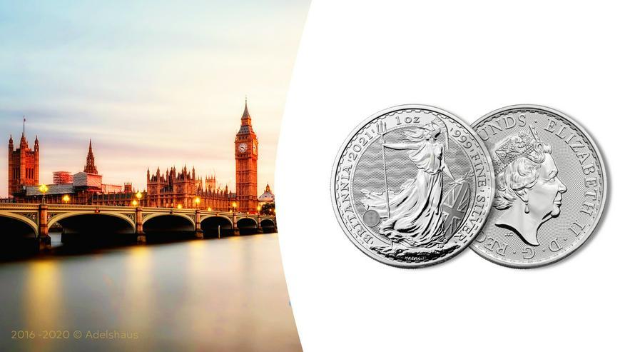 Großbritannien 1 Unze Silbermünze Britannia 2021 Silber