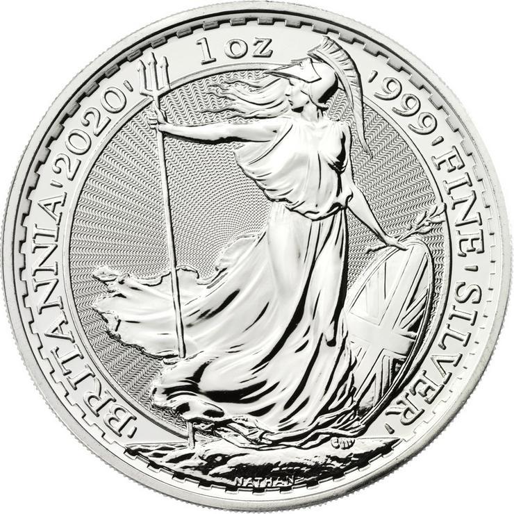 Großbritannien 1 Unze Silbermünze Britannia 2020 Silber