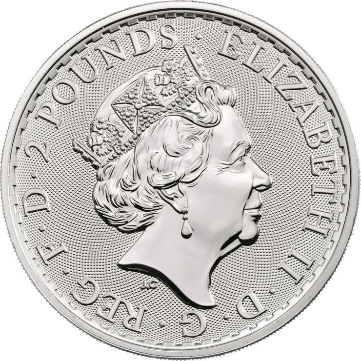 Bild 2: Großbritannien 1 Unze Silbermünze Britannia 2020 Silber