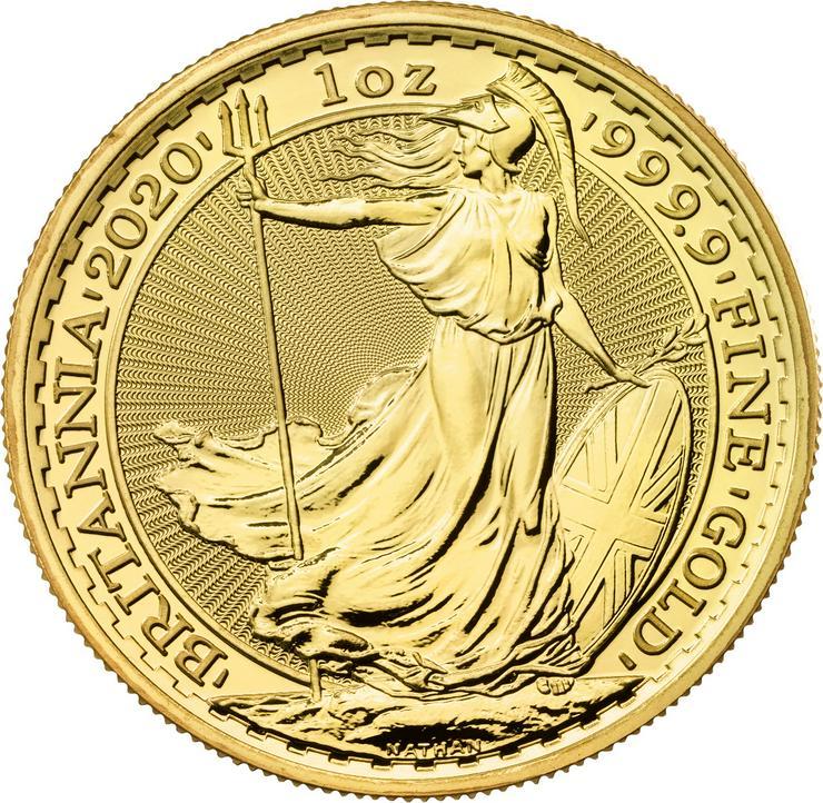 Großbritannien 1 Unze Goldmünze Britannia 2020 Gold