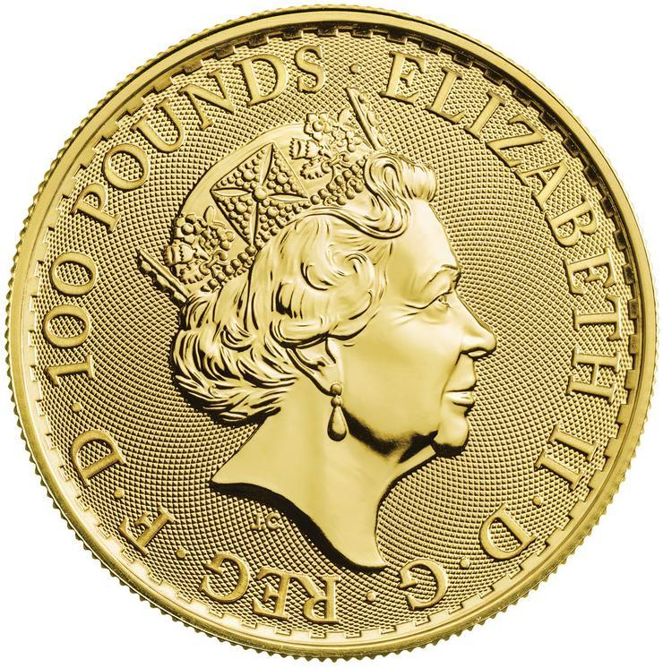 Bild 2: Großbritannien 1 Unze Goldmünze Britannia 2018 Gold