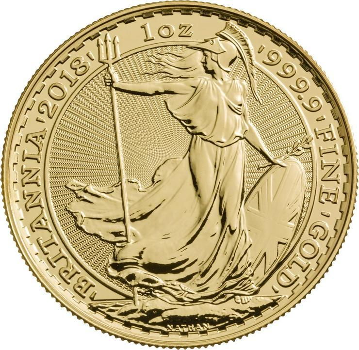 Großbritannien 1 Unze Goldmünze Britannia 2018 Gold