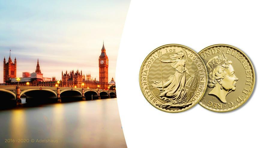 Großbritannien 1 Unze Goldmünze Britannia 2021 Gold