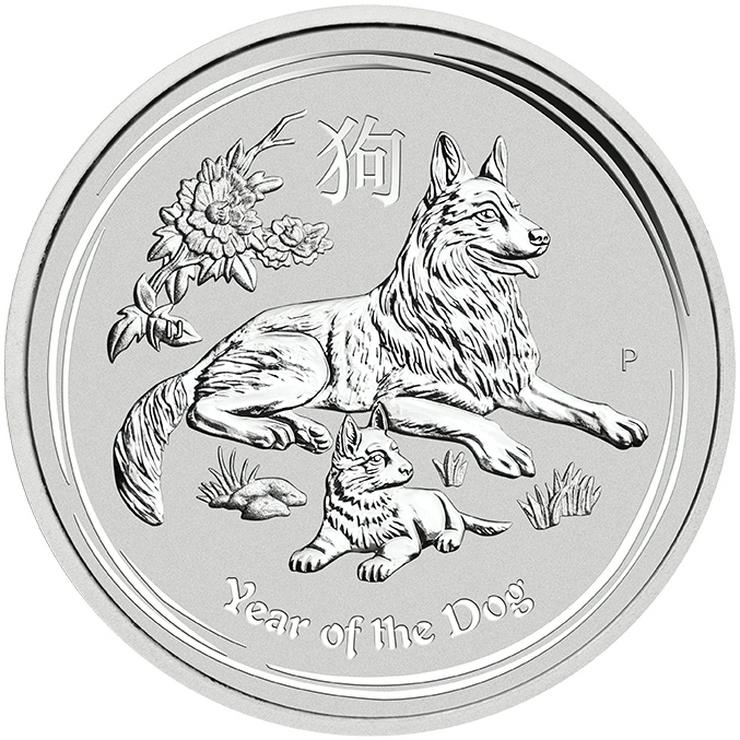 Australien 1 Unze Silbermünze Hund Lunar 2018 Silber