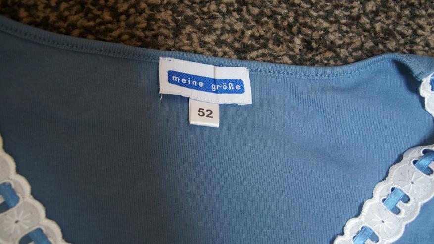 Bild 4: Shirt, Gr. 52, blau-weiß, Meine Größe