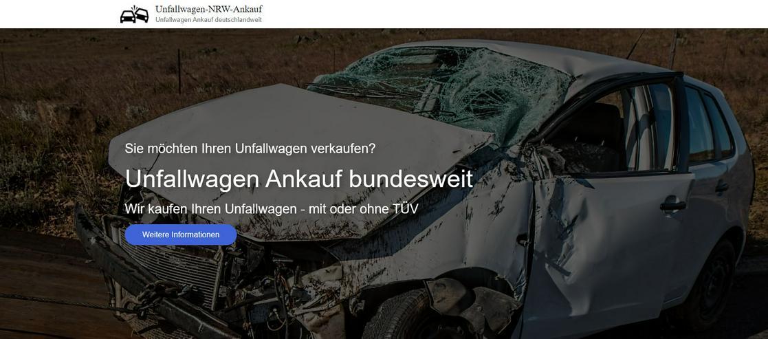 Bundesweiter Ankauf von Unfallwagen auch mit Getriebe- od. Motorschaden