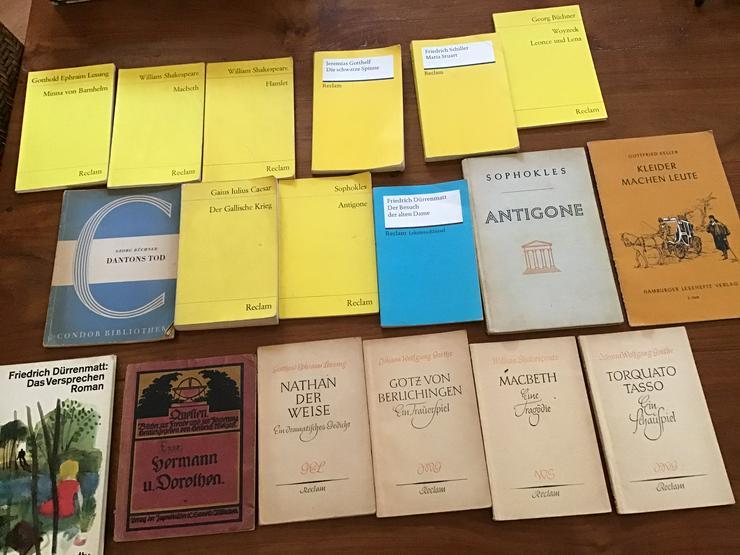 Reclam Goethe Schiller Dürrenmatt Shakespeare 18 Stk.  - Klassische Dichtung - Bild 1