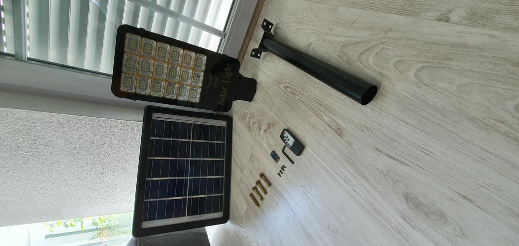 Bild 6: LED Straßenlaterne Solarleuchte Straßenlampe Lichtsensor Kaltweiß IP65