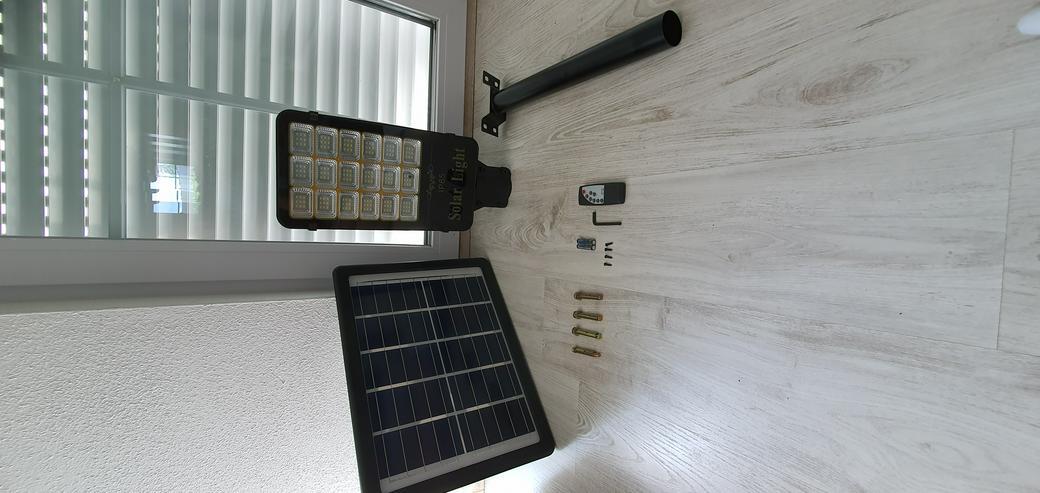 Bild 4: LED Straßenlaterne Solarleuchte Straßenlampe Lichtsensor Kaltweiß IP65