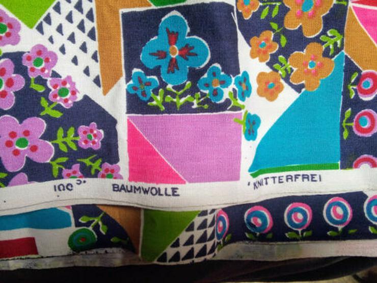 Bild 2: Bunter Stoff  200 x 90 cm 100% baumwolle knitterfrei Neu