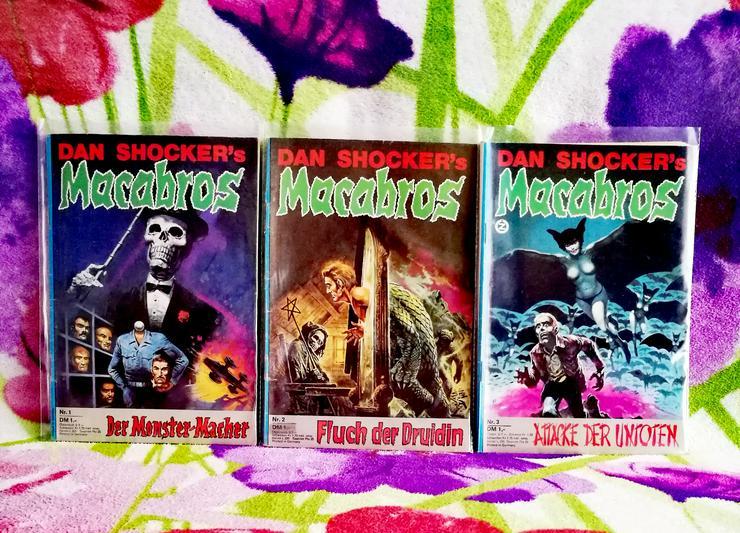 sehr schöne sammelwürdige Macabros Romanhefte  aus dem Jahr 1973-1983 Erstausgabe