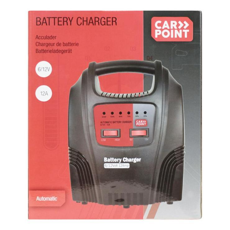 Bild 3: Carpoint Ladegerät (230 Volt - 12 Ampere) 20 cm schwarz
