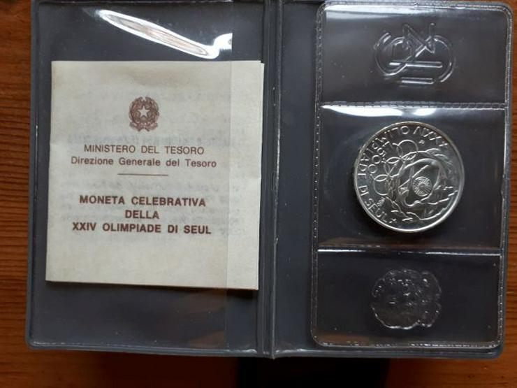 500 Lire Silbermünze SEOUL 1988
