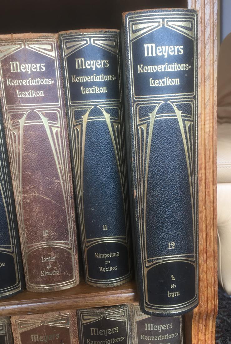 Meyers Großes Konversations-Lexikon, 6. Auflage von1904, 24 Bände mit passendem Regal - Lexika & Chroniken - Bild 3