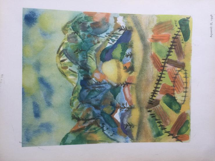 3 Aquarelle von Henry Miller: Nr. II; VIII; XII - Poster, Drucke & Fotos - Bild 1