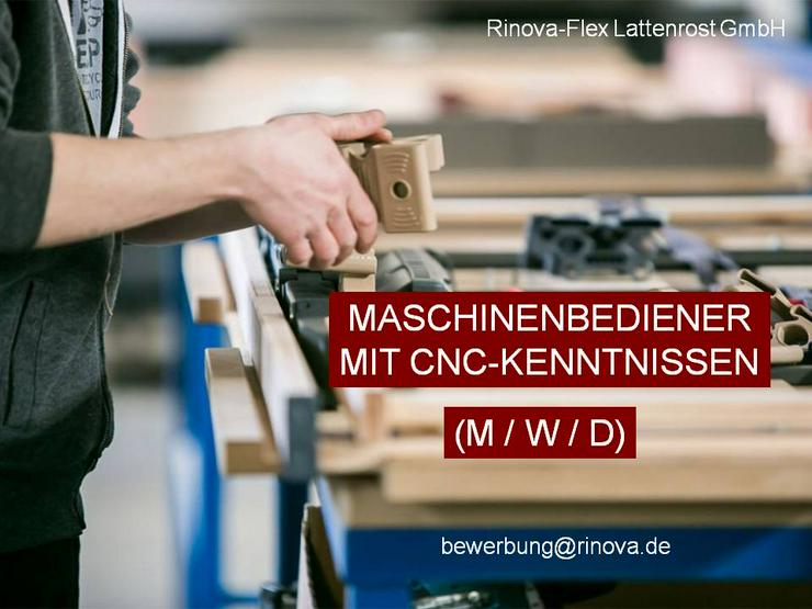Maschinenbediener (m/w/d) mit CNC-Kenntnissen