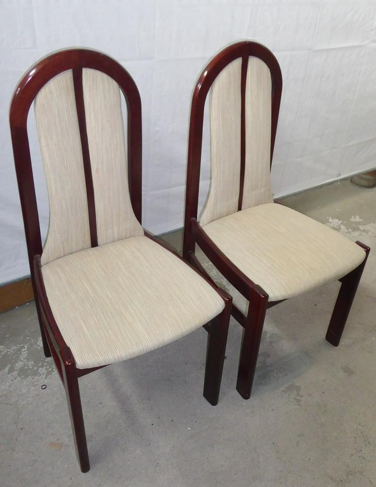 6 gepolsterte Mahagoni-Holzstühle wegen Umzugs zu verkaufen
