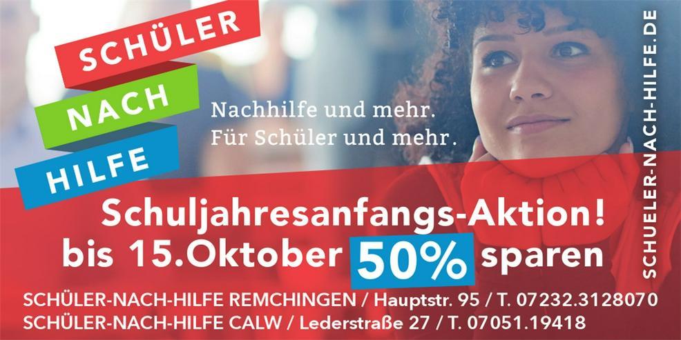 ! 50% sparen bis 15.10. !
