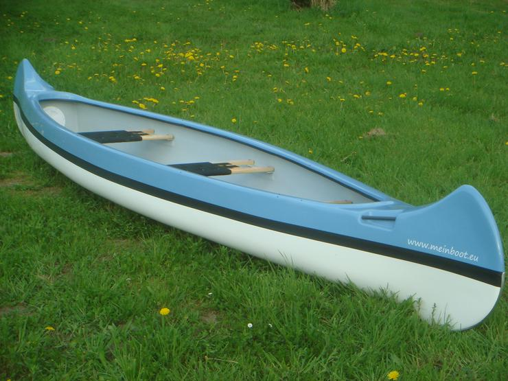 Bild 3: Kanu 3er Kanadier 500 Neu ! in hellblau /weiß