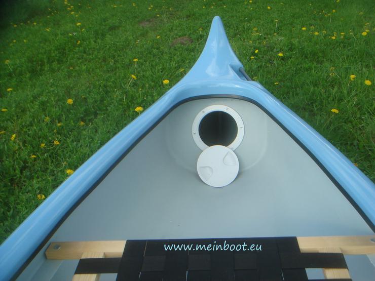 Bild 5: Kanu 3er Kanadier 500 Neu ! in hellblau /weiß