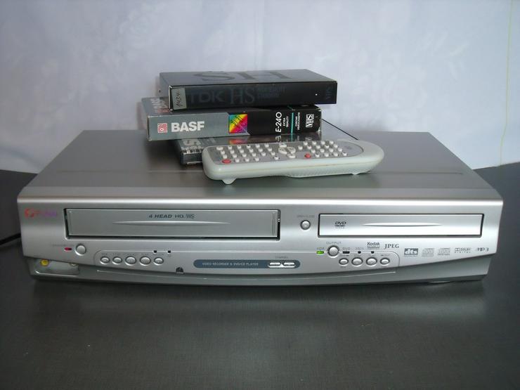 DVD-Player VHS- Rekorder Funai 7530-D DviX mIt FB.Gute  zust: