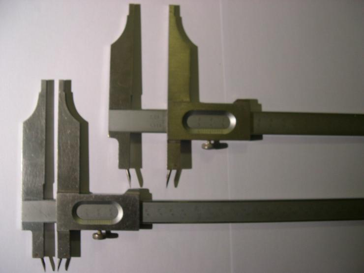 Schieblehren für Gießerei- Modellbauer mit 4 Schwindmaßen
