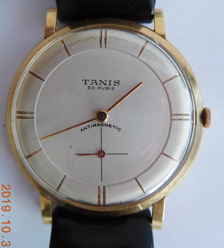 Herren Gold Armbanduhr TANIS - Uhren - Bild 1