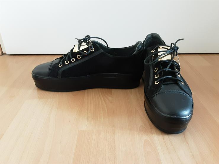 Stiefelettelen,schwarz,Leder - Größe 39 - Bild 1