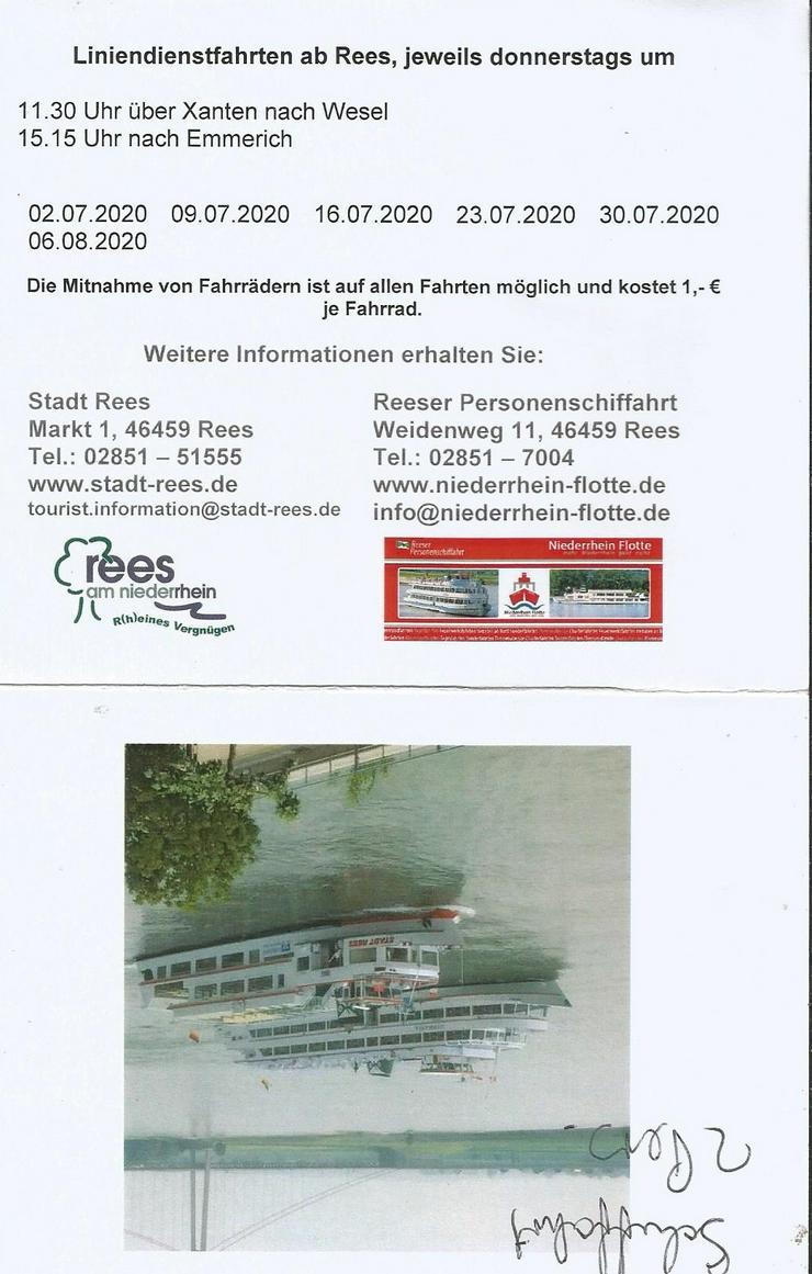 Bild 2: 2 Gutscheine für Linien Schiffsfahrt ab Rees -Schnellverkauf