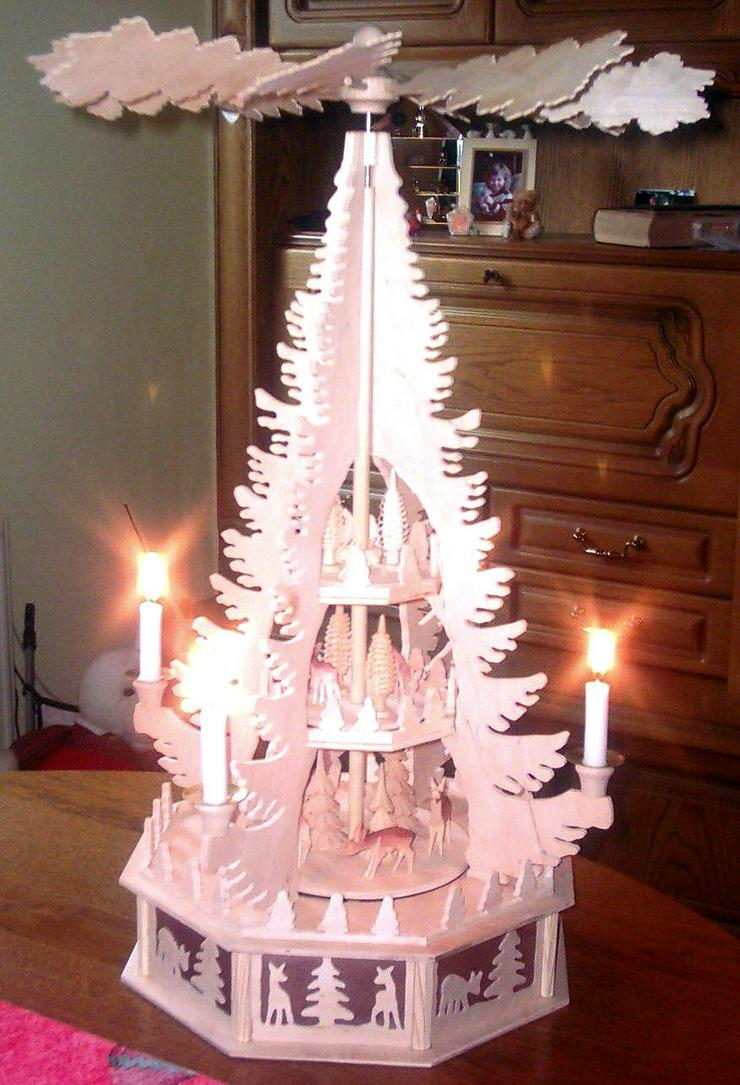 Bausatz Erzgebirgische Weihnachtspyramide 3 Etagen