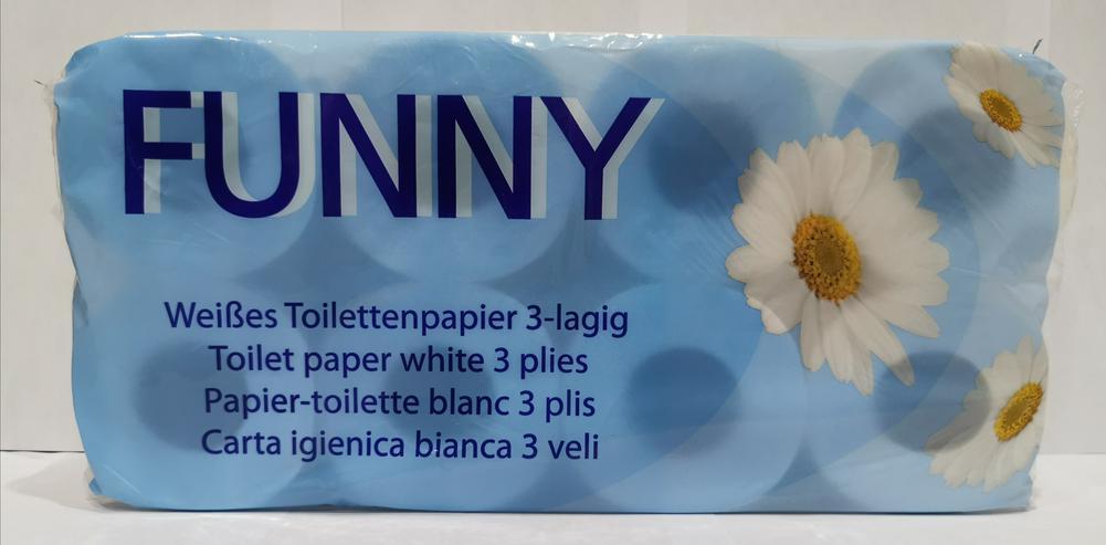 Weißes Toilettenpapier 3- Lagig 250 Blatt