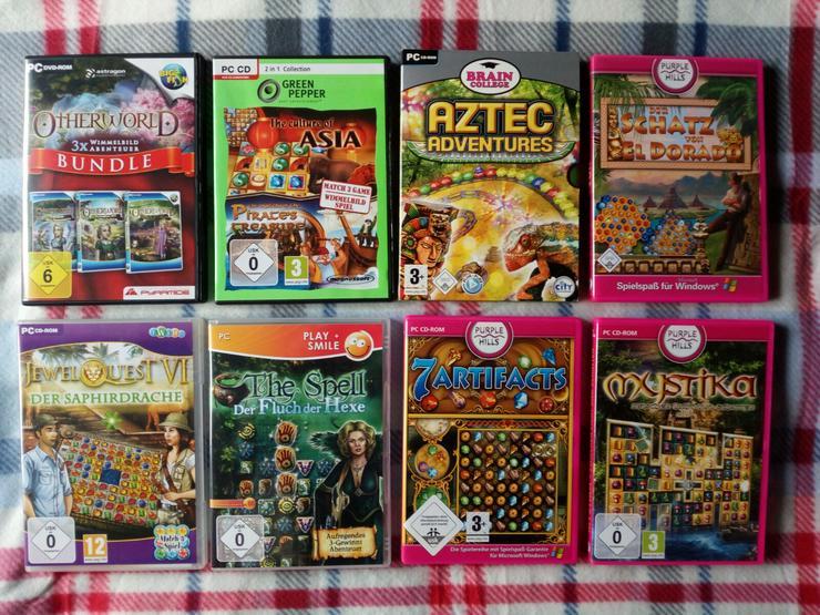 12 PC-Spiele auf 9 Cassetten
